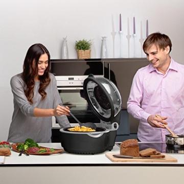 Klarstein VitAir Heißluftfritteuse Fritteuse (1400 Watt, 9 Liter Garraum, fett-frei Frittieren, Backen, Grillen, Rösten) schwarz -